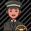 driver, car, transport, vehicle, man, service, avatar