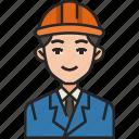 engineer, worker, man, construction, work, technician, avatar