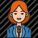 reporter, news, journalist, media, avatar, woman, news anchor