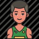 athlete, sport, fitness, exercise, man, avatar, basketball