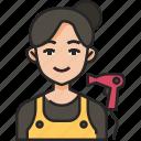 hairdresser, hair, beauty, salon, hairstyle, woman, avatar