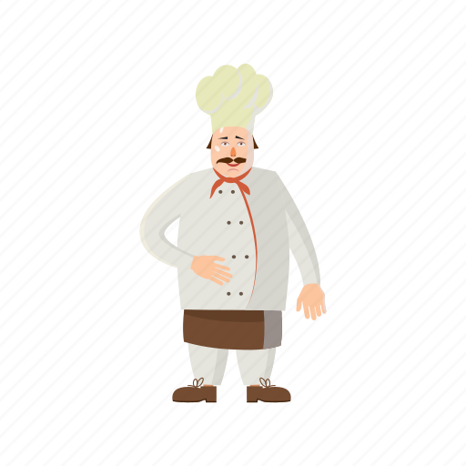 cartoon, chef, cook, male, man, professional, restaurant icon