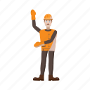 builder, cartoon, man, person, tool, work, worker