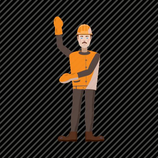 builder, cartoon, man, person, tool, work, worker icon