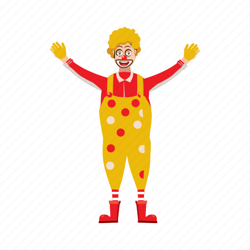 cartoon, circus, clown, costume, funny, happy, hat icon