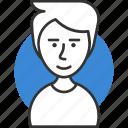 avatar, hair, male, man, profile, user icon icon