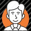 avatar, hair, male, man, profile, user, user icon icon