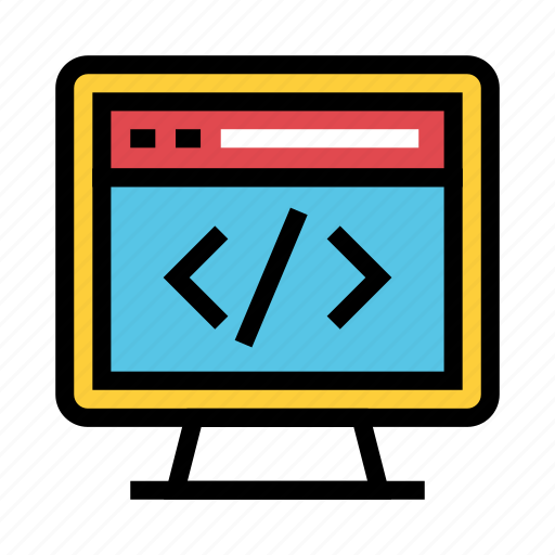coding, internet, monitor, programming, webpage icon