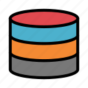 database, datacenter, mainframe, server, storage icon