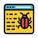 bug, internet, malware, threat, virus icon