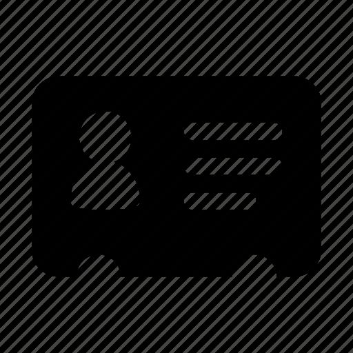 card, vcard icon