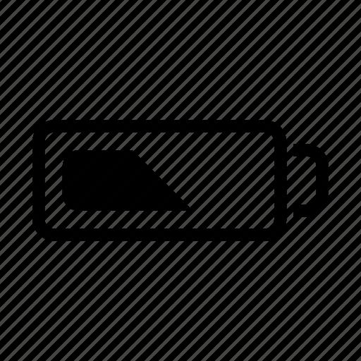 battery, energy, half battery, power icon