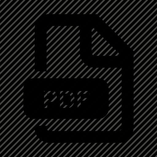 document, file, filetype, pdf icon