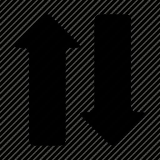 arrows, ascending, descending, direction, down, sort, up icon