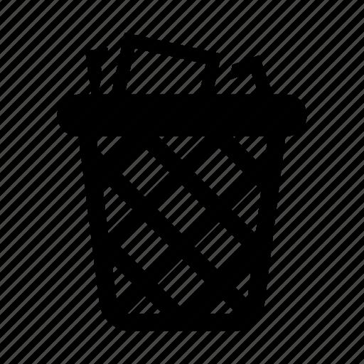 bin, delete, full, garbage, remove, trash icon