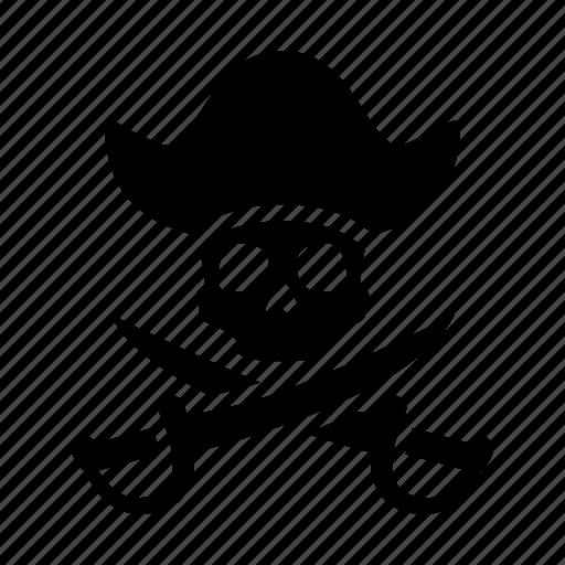 bones, piracy, pirate, skeleton, skull, swords, torrent icon