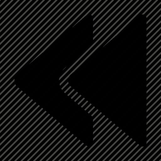 arrows, back, backward, control, rewind icon
