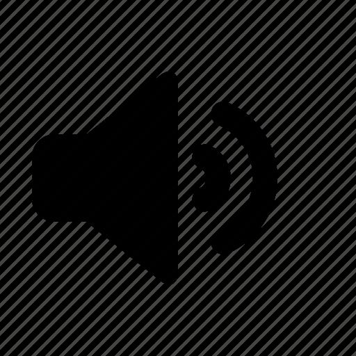 audio, medium volume, sound, speaker, volume icon