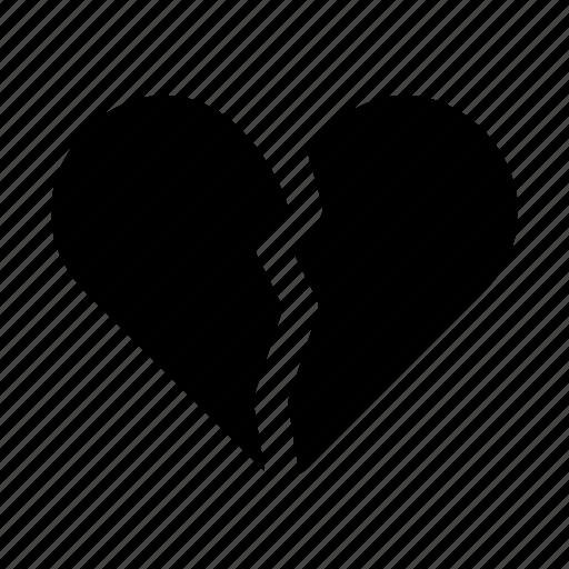 Broken Broken Heart Heart Love Romance Romantic Valentine Icon
