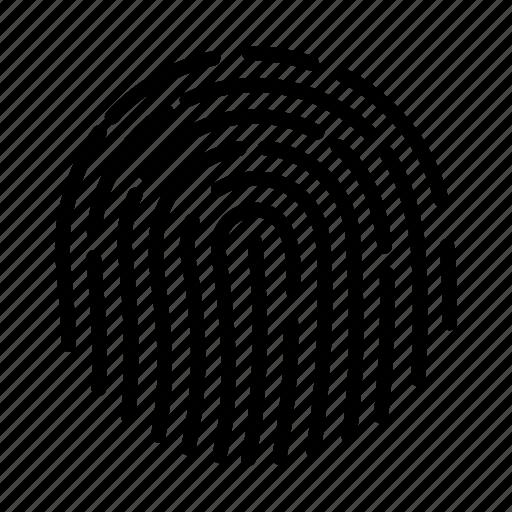 biometric, biometrics, fingerprint, identity, protection, security, touch id icon