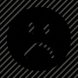 emoji, emoticon, emotion, expression, frown, smiley icon