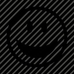 emoji, emoticons, emotion, happy, lol, smile, smiley icon