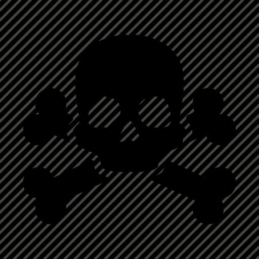 caution, danger, death, pirate, poison, skull, warning icon