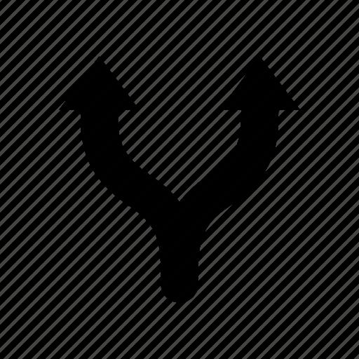 arrows, navigation, separate, split icon