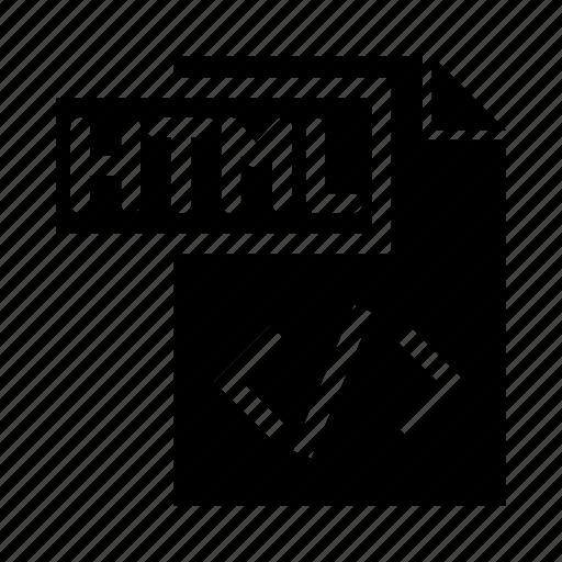 coding, document, file, html, programming icon