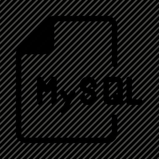 coding, document, files, mysql, script icon