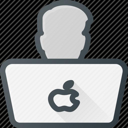 computer, developer, laptop, programer, user icon