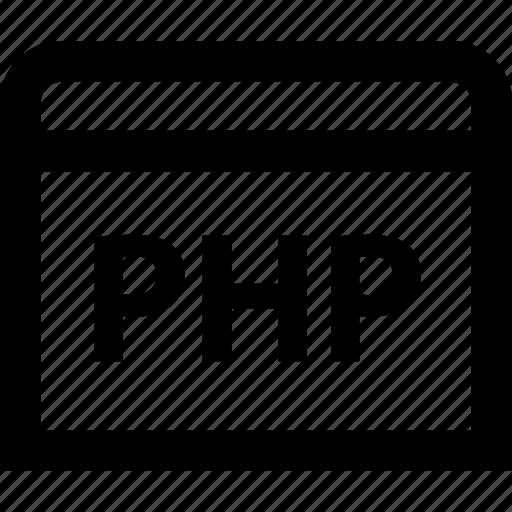 code, coding, development, php, programming, web icon