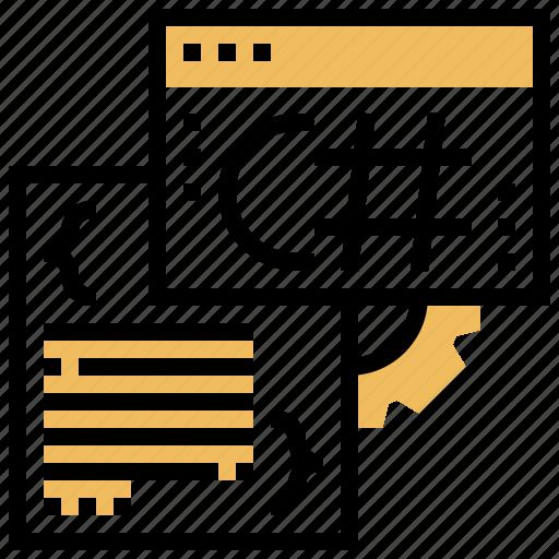 coding, developer, programmer, script, webpage icon