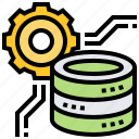 data, database, digital, processing, technology icon