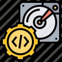 computer, developer, harddisk, programmer, software icon