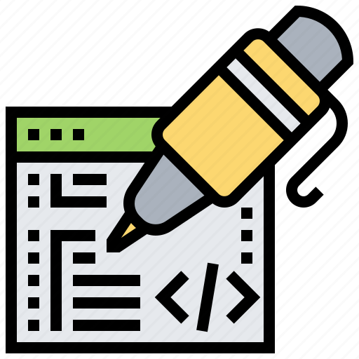 code, interface, programmer, software, write icon