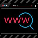 dark, internet, online, web icon