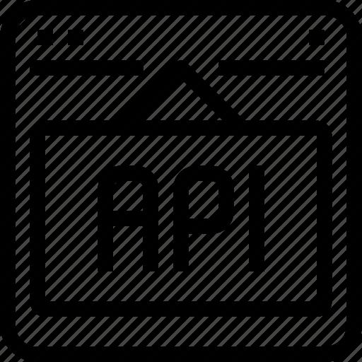 api, browser, code, development, interface, internet, programming icon