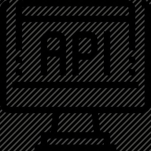 api, code, coding, computer, developer, development, technology icon