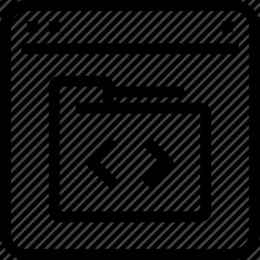 browser, code, coding, development, interface, programming icon