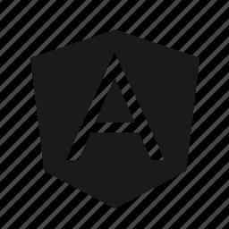 a, developer, logo, programing, programming, tools icon