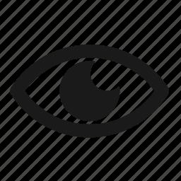 developer, eye, mission, programing, programming, vision icon