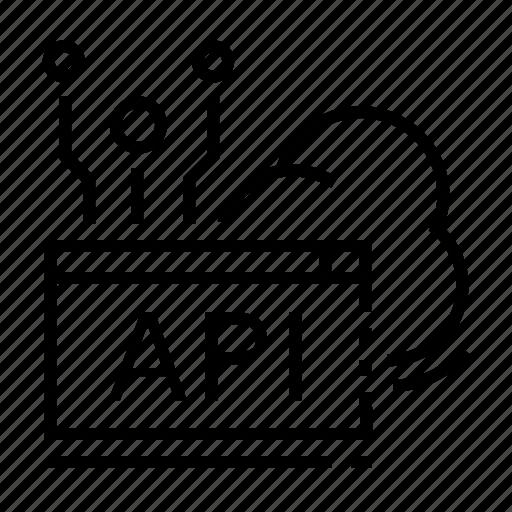 api, computer, programming, software icon