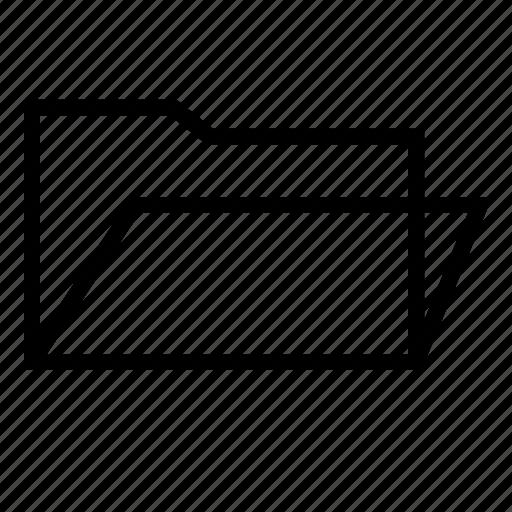 folder, folder icon, open folder, open folder icon, opened icon