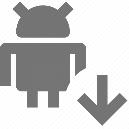 android, arrow, down, download icon