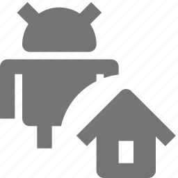 android, home, house icon