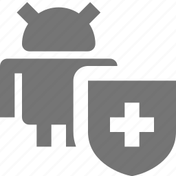 android, security, shield icon