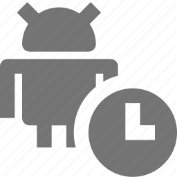 android, clock, time icon
