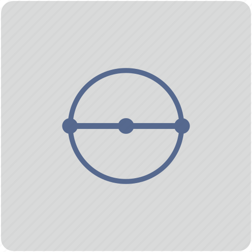 diameter, form, geometry, measure, size icon