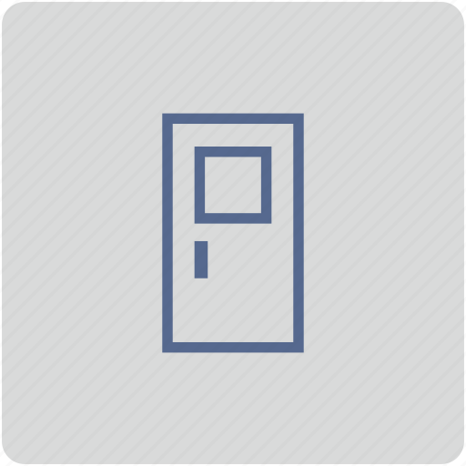 door, exit, form icon
